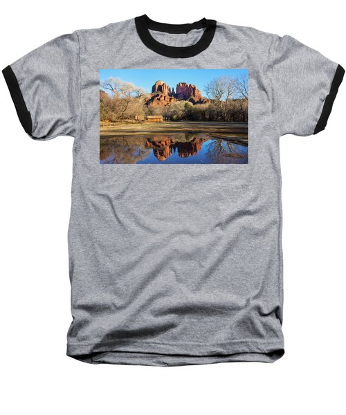 Cathedral Rock, Sedona Baseball T-Shirt by Barbara Manis