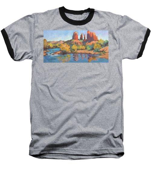 Moonrise Cathedral Rock Sedona Baseball T-Shirt