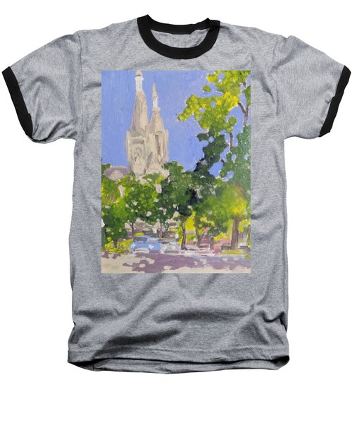 Cathedral Baseball T-Shirt by Rodger Ellingson