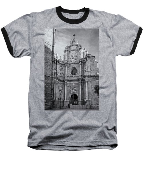 Baseball T-Shirt featuring the photograph Cathedral Valencia Spain by Joan Carroll