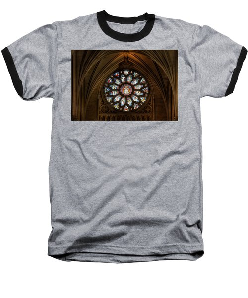 Cathedral Window Baseball T-Shirt by Adrian Evans