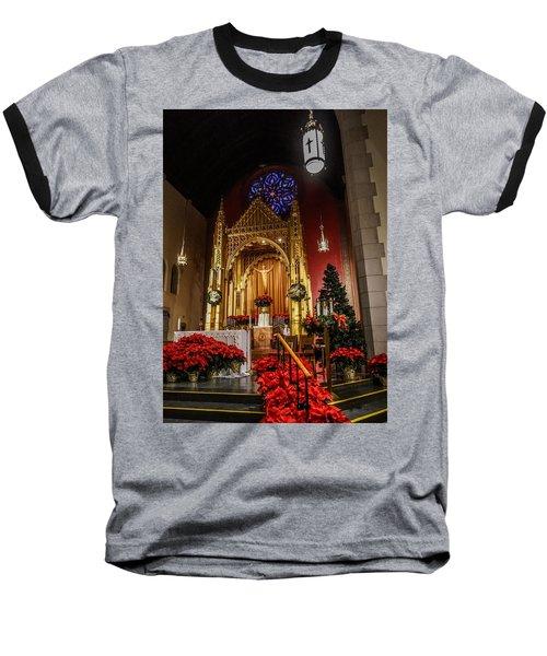 Catholic Christmas Baseball T-Shirt