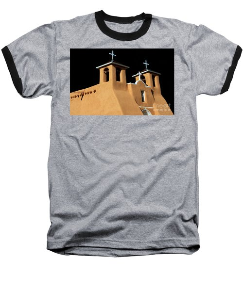 Baseball T-Shirt featuring the photograph St Francis De Assi Church  New Mexico by Bob Christopher