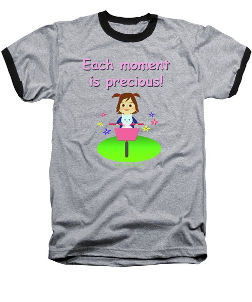 Cathy And The Cat Enjoy Each Moment Baseball T-Shirt