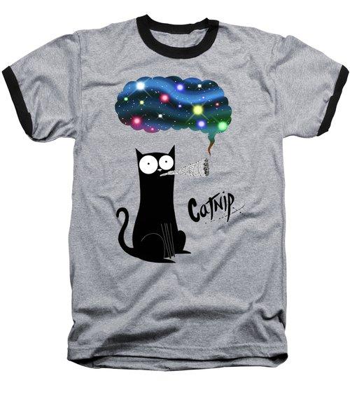 Catnip  Baseball T-Shirt by Andrew Hitchen