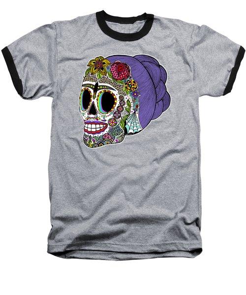 Catrina Sugar Skull Baseball T-Shirt