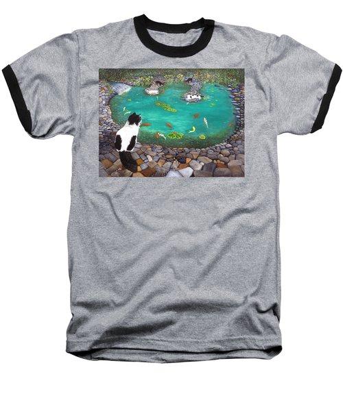 Cats And Koi Baseball T-Shirt