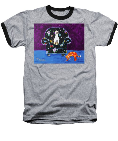 Cats Just Wanna Have Fun Baseball T-Shirt
