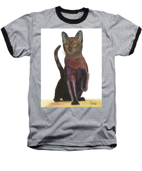 Cats Meow Baseball T-Shirt by Ferrel Cordle