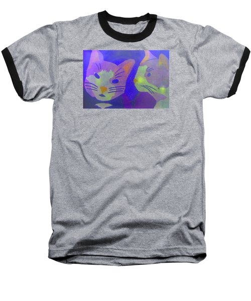 Cats On A Wall Baseball T-Shirt