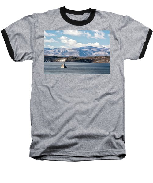 Catskill Mountains With Lighthouse Baseball T-Shirt