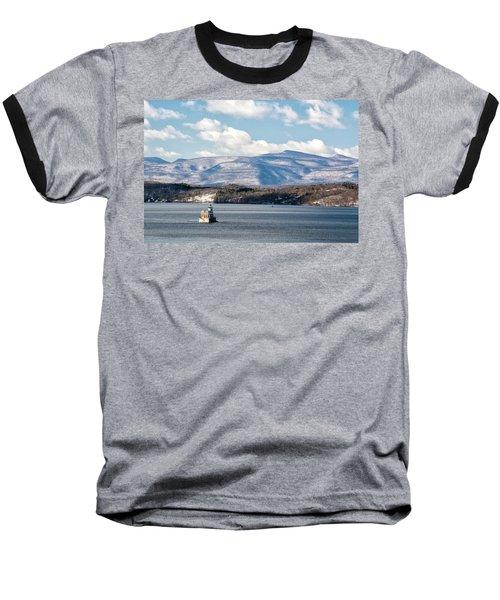 Catskill Mountains With Lighthouse Baseball T-Shirt