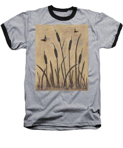 Cattails 2 Baseball T-Shirt by Trish Toro