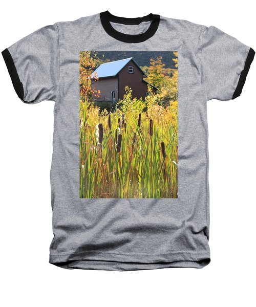 Cattails And Barn Baseball T-Shirt