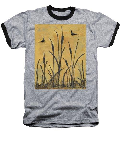Cattails I Baseball T-Shirt by Trish Toro