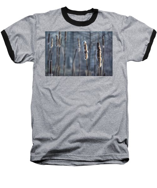 Baseball T-Shirt featuring the photograph Cattails In The Winter by Sumoflam Photography