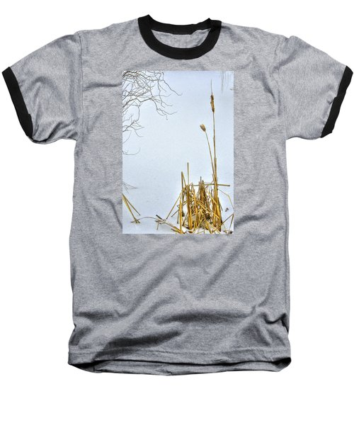 Cattails In Winter Baseball T-Shirt
