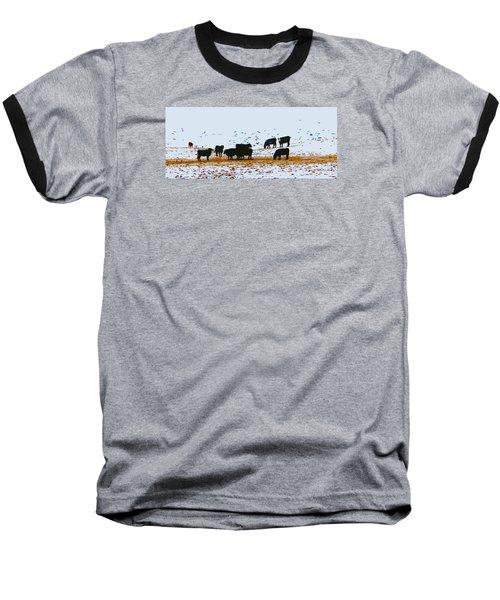 Cattle And Birds Baseball T-Shirt