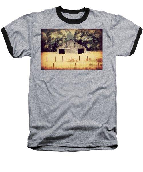 Baseball T-Shirt featuring the photograph Hwy 3 Barn by Julie Hamilton
