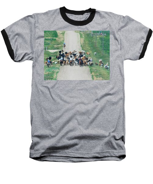 Cattle Drive Baseball T-Shirt