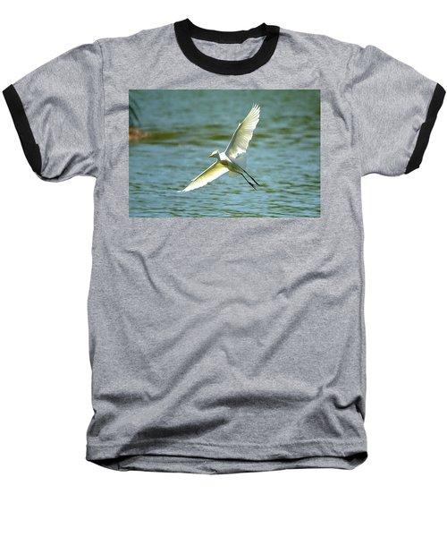 Cattle Egret Right Banking Turn - Digitalart Baseball T-Shirt