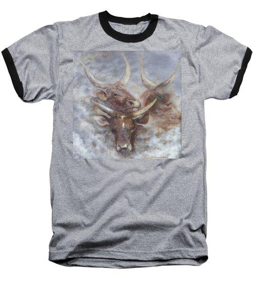 Cattle In The Mist Baseball T-Shirt