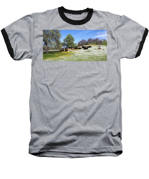 Cattle N Flowers Baseball T-Shirt