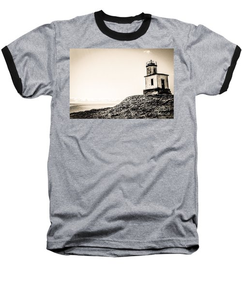 Cattle Point Lighthouse Baseball T-Shirt by William Wyckoff
