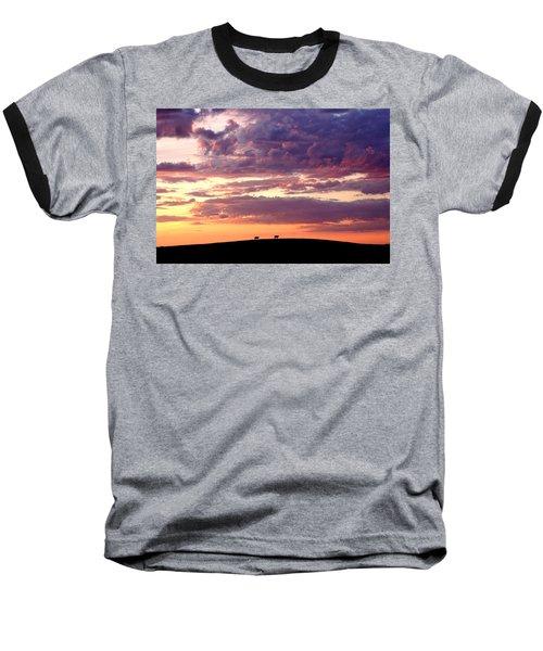 Cattle Ridge Sunset Baseball T-Shirt