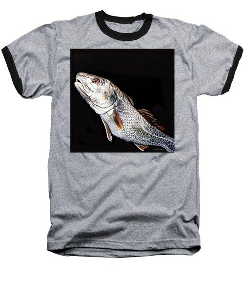 Caught In The Surf Redfish Baseball T-Shirt