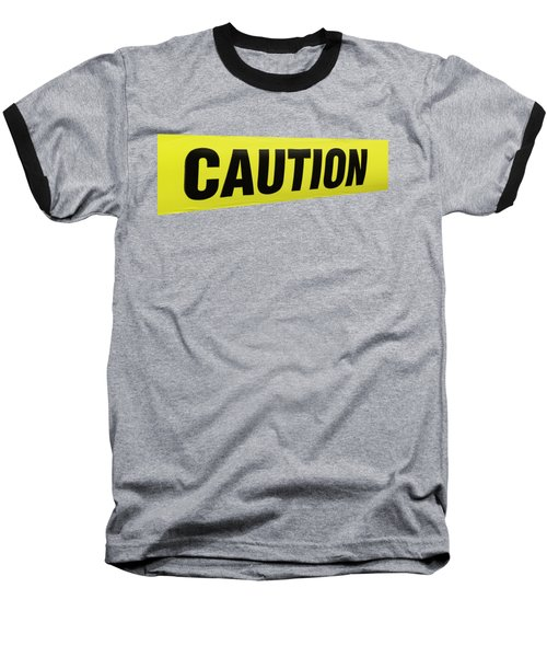 Caution Tape Baseball T-Shirt