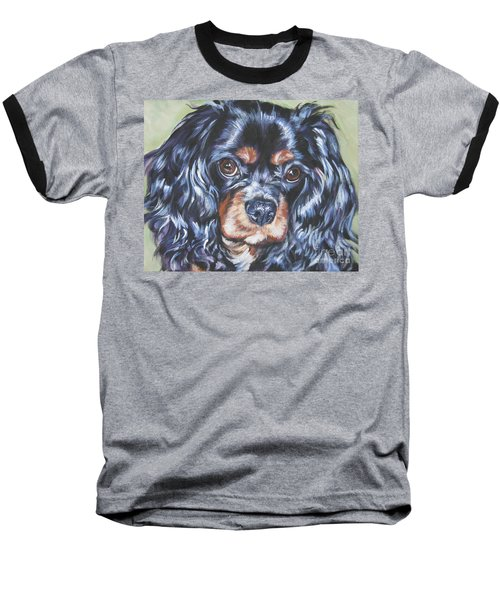 Cavalier King Charles Spaniel Black And Tan Baseball T-Shirt