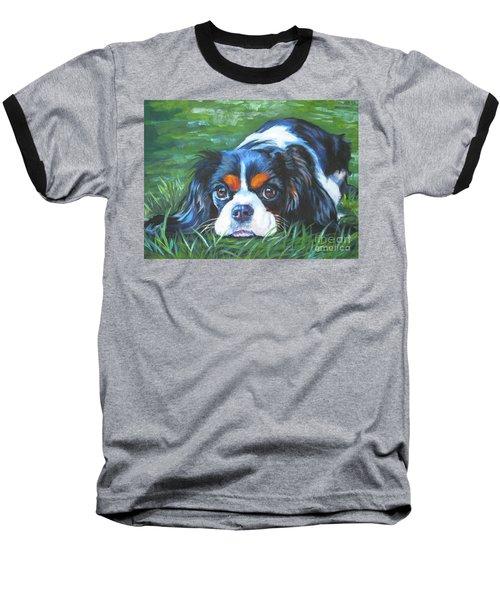 Cavalier King Charles Spaniel Tricolor Baseball T-Shirt