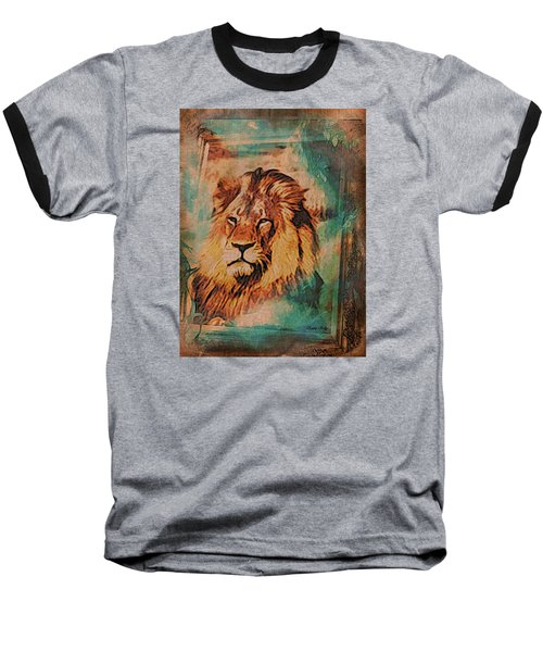 Baseball T-Shirt featuring the digital art Cecil The Lion by Kathy Kelly