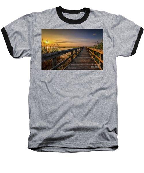 Cedar Beach Pier, Long Island New York Baseball T-Shirt