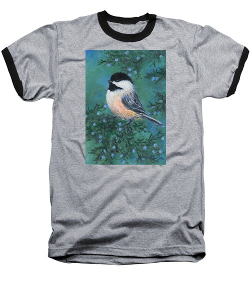 Cedar Chickadee 2 Baseball T-Shirt