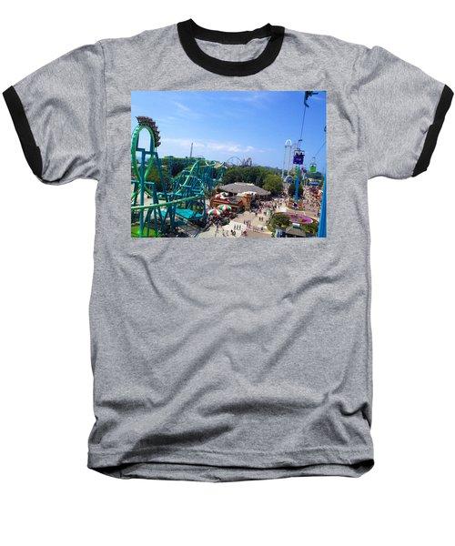 Cedar Point Amusement Park Baseball T-Shirt
