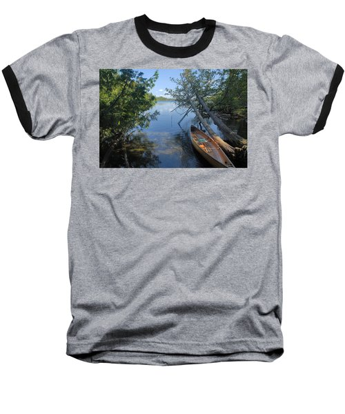 Cedar Strip Canoe And Cedars At Hanson Lake Baseball T-Shirt