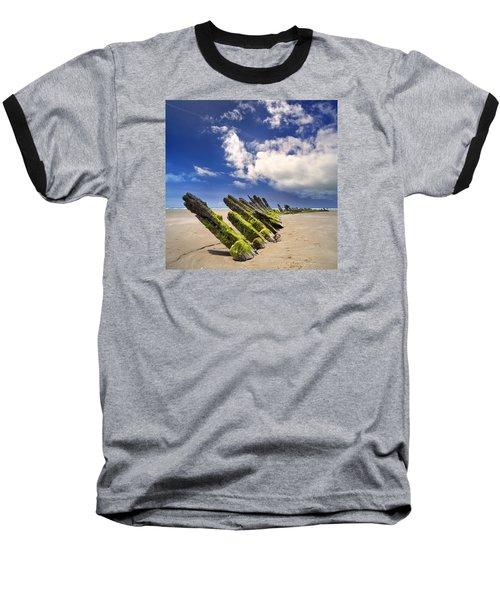 Cefn Sidan Beach 3 Baseball T-Shirt