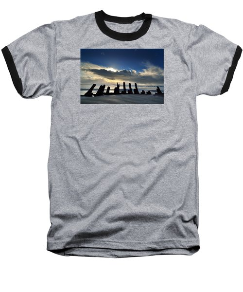 Cefn Sidan Beach 5 Baseball T-Shirt