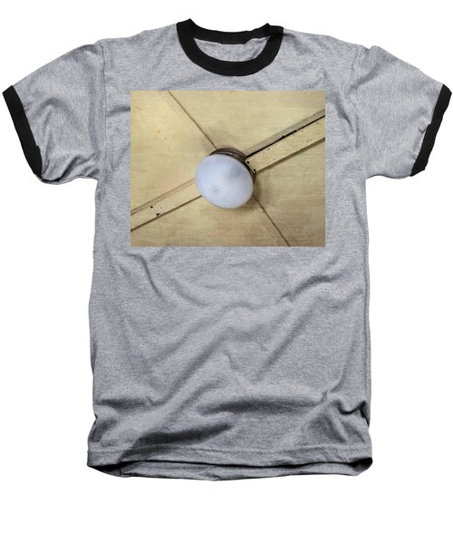 Ceiling Light On Antique Train Baseball T-Shirt by Gary Slawsky