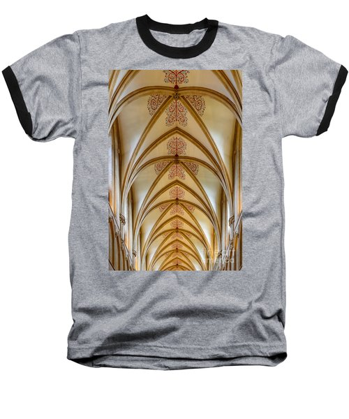 Ceiling, Wells Cathedral. Baseball T-Shirt