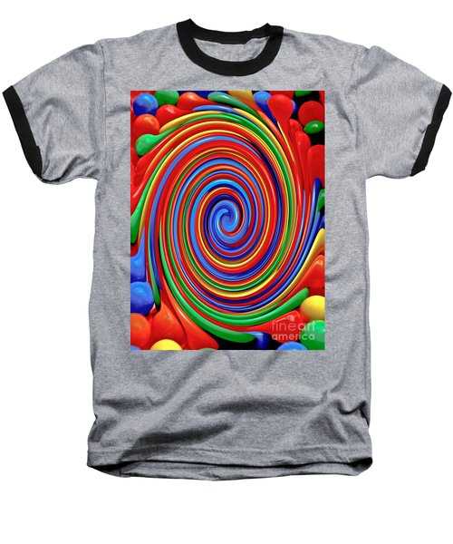 Celebrate Life And Have A Swirl Baseball T-Shirt by Carol F Austin