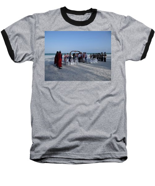 Celebrate Marriage On The Beach Baseball T-Shirt