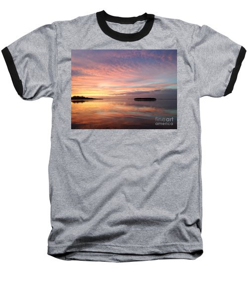 Celebrating Sunset In Key Largo Baseball T-Shirt