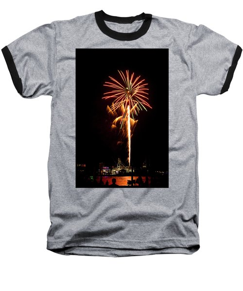Celebration Fireworks Baseball T-Shirt by Bill Barber