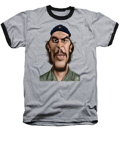 Baseball T-Shirt featuring the drawing Celebrity Sunday - Che Guevara by Rob Snow
