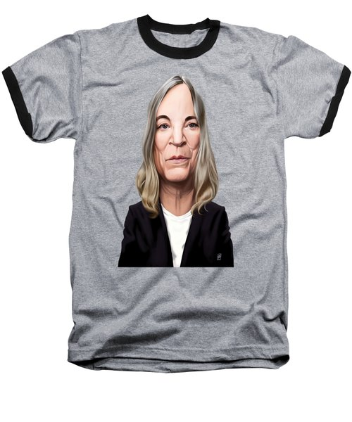 Baseball T-Shirt featuring the drawing Celebrity Sunday - Patti Smith by Rob Snow