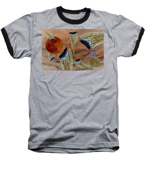 Celestial Butterflies Baseball T-Shirt