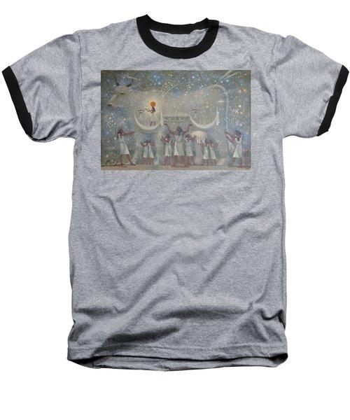 Celestial Cow Baseball T-Shirt